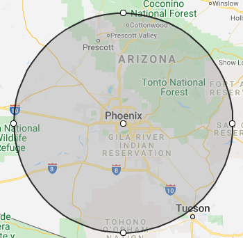 areas served around Phoenix